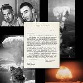 J.R. Oppenheimer Re: Nuclear Bomb Development to L.