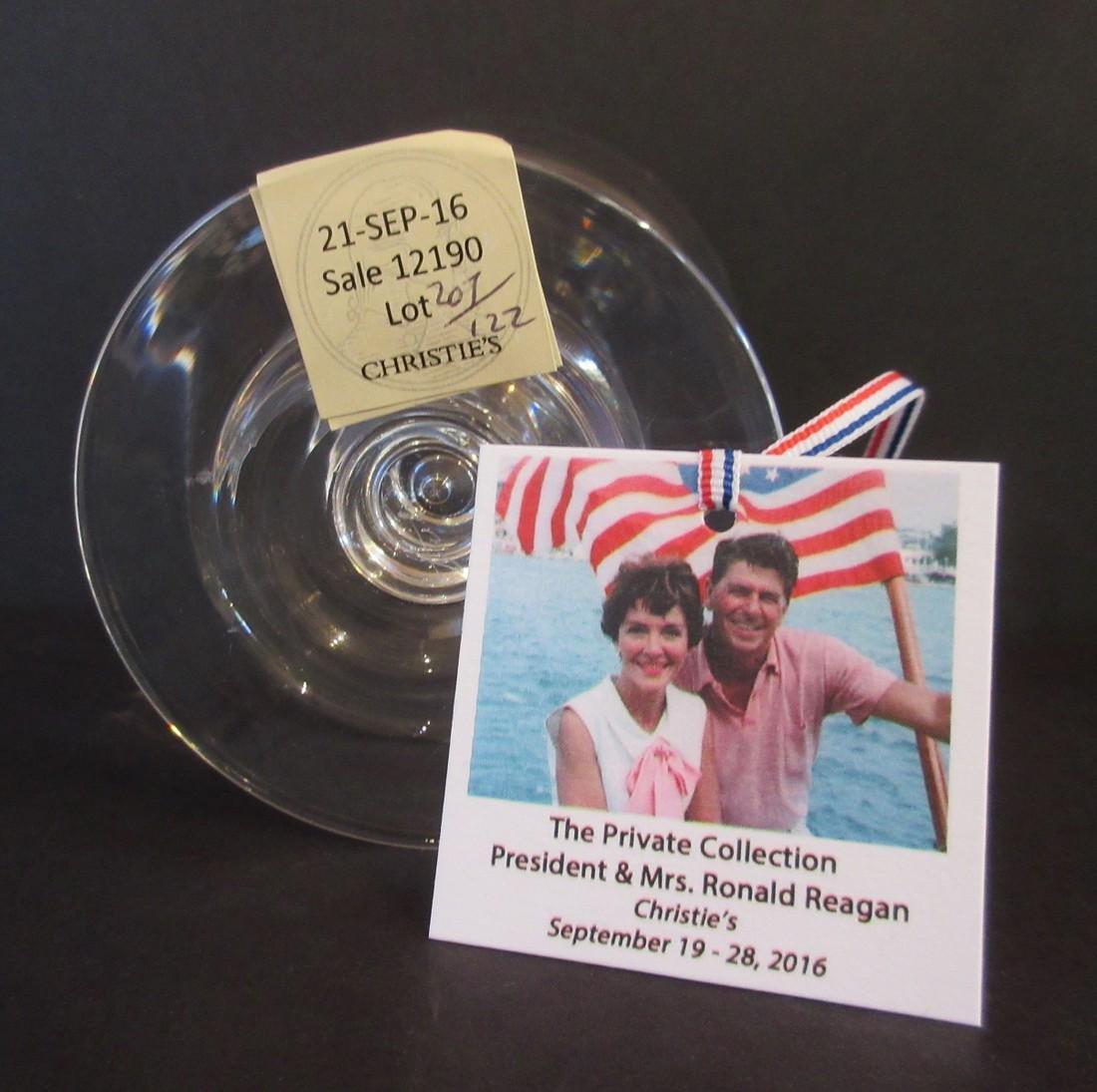 Ronald Reagan Steuben Glass Works Dessert Coupe - 4