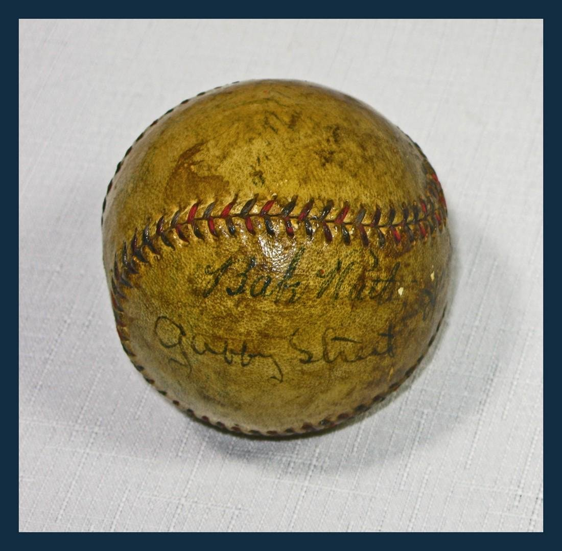 Babe Ruth & Connie Mack Signed Baseball in Special