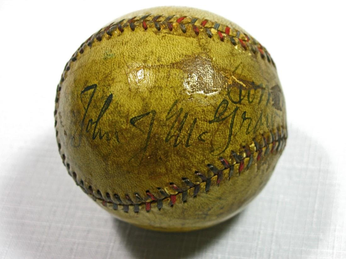 Babe Ruth & Connie Mack Signed Baseball in Special - 5