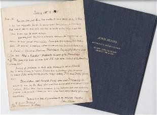 John Adams ALS, Lends Letters Concerning the 1765 Stamp