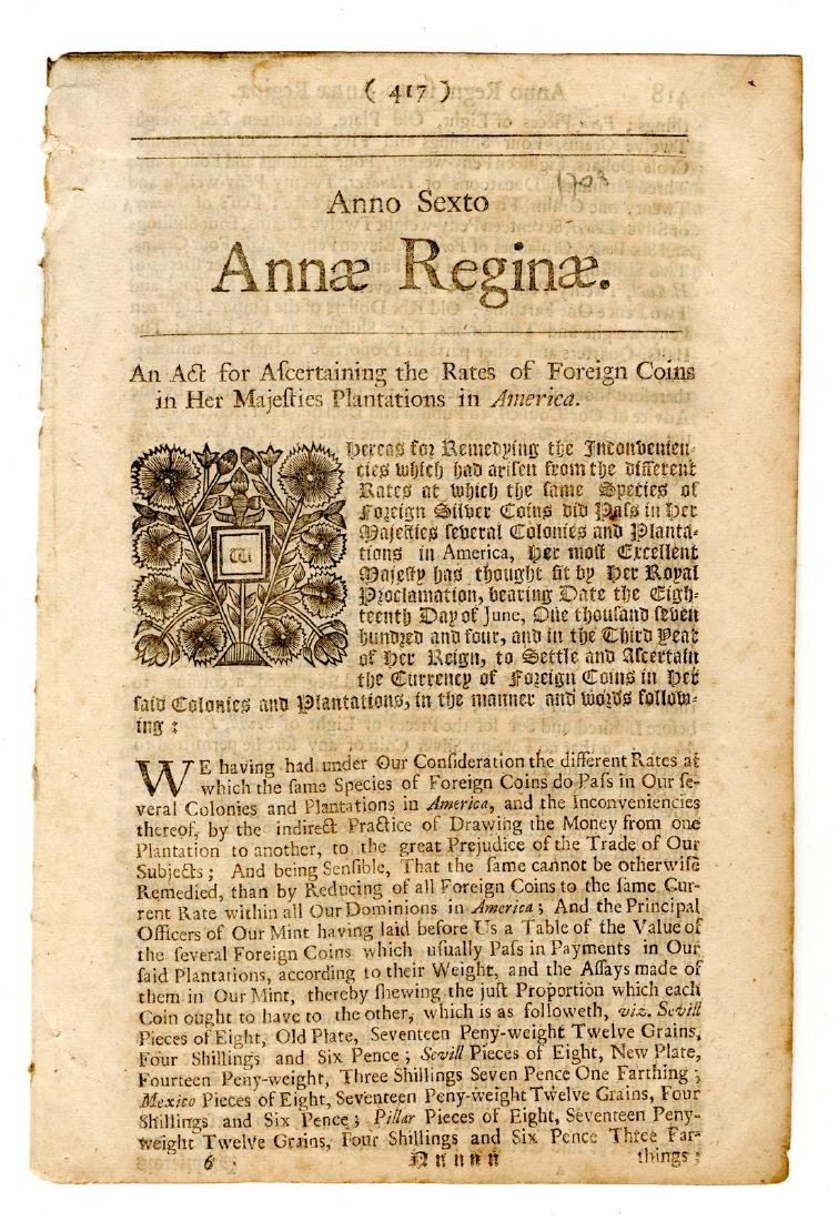 Queen Anne 1708, Coins in the American Colonies! - 3