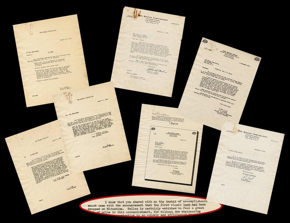 Manhattan Project's Kellex Corporation Archive from