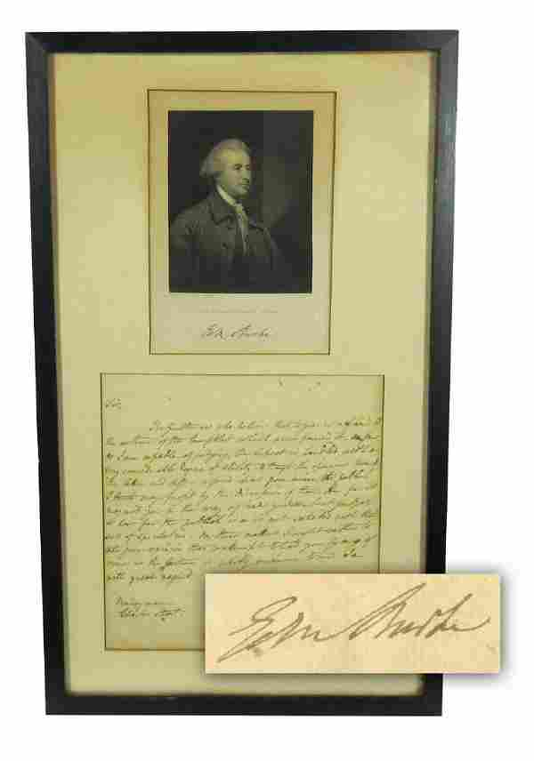 "Edmund Burke ALS: ""the publick I think may profit by"