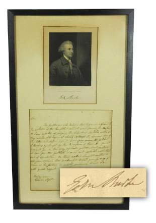 Edmund Burke ALS the publick I think may profit by