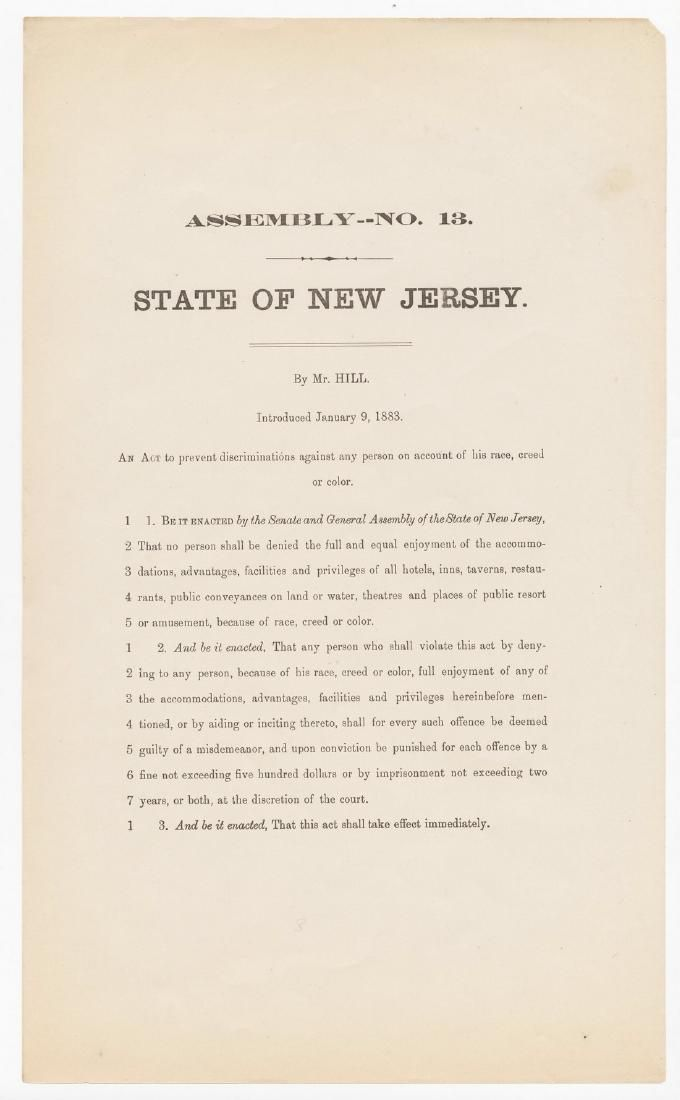 Civil Rights - NJ Unsuccessfully Attempts to Ensure