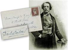 Charles Dickens Signed Envelope, August 1849