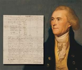 Thomas Jefferson Sally Hemings Related Slave Letter,