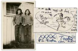 13-Year-Old Jackie Kennedy, Superb Illustrated Letter