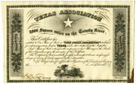 "Sam Houston Authorized ""Texas Association"" Stock"