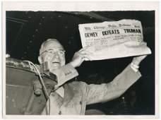 "Harry S. Truman ""Dewey Defeats Truman,"" Superb Vintage"