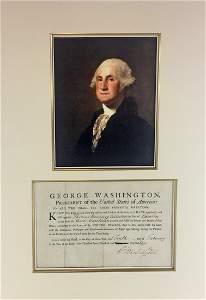 George Washington Superb Signed Document as President,