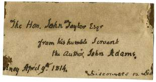 John Adams, Declaration Signer from MA, ADS Related to