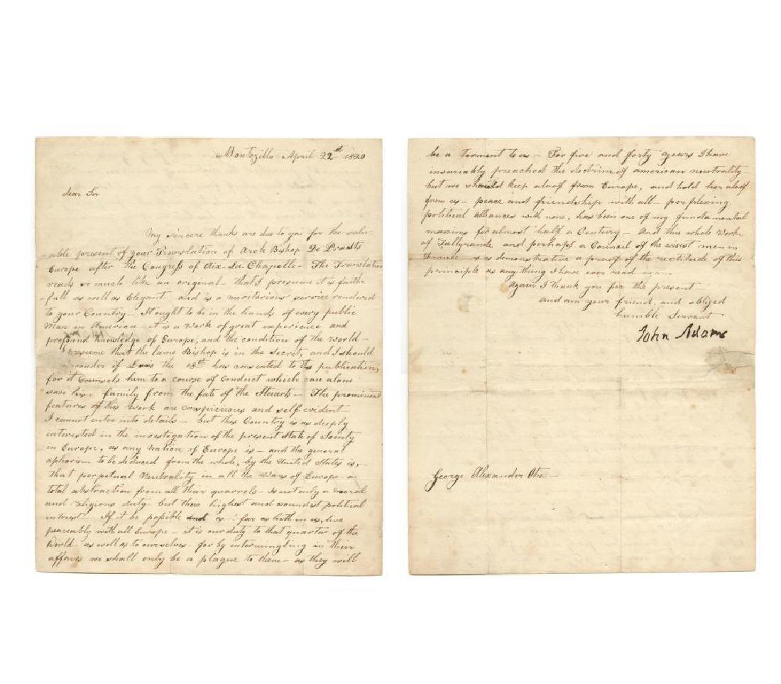 John Adams Effusively Thanks Translator George