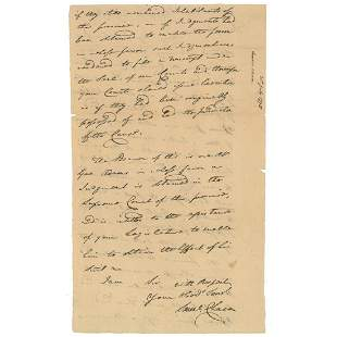 Samuel Chase Declaration Signer Signs a Boldly Penned