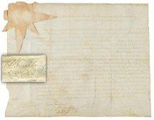 Benjamin Franklin Superb Signed Document as President