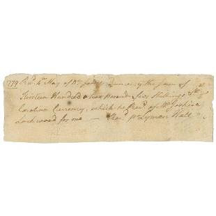 Lyman Hall Rare Declaration Signer Rev WarDated ADS