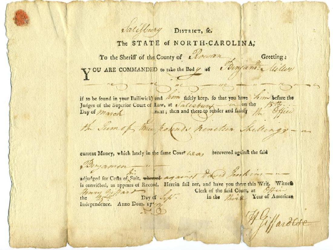 William Hooper, Declaration Signer, Rev War-Dated