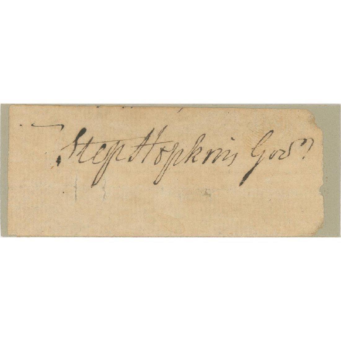 Stephen Hopkins, Declaration Signer, Signature as