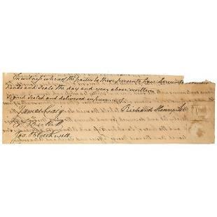 Richard Henry Lee Declaration Signer Boldly Signed