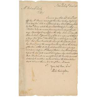 Philip Livingston Declaration Signer from NY Signs a