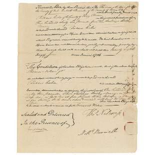Thomas Nelson Declaration Signer Magnificent Document
