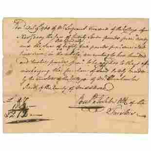 Richard Stockton Declaration Signer Scarce ADS Re What