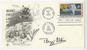 Neil Armstrong, Buzz Aldrin, Michel Collins, Signed Man