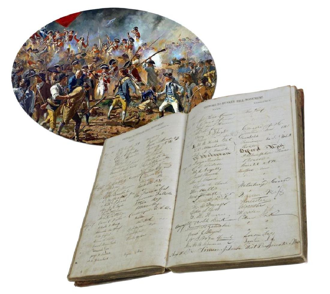 Bunker Hill Monument Remarkable Guestbook Signed by