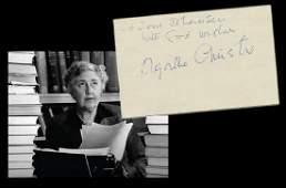 Agatha Christie Lovely Large Signature