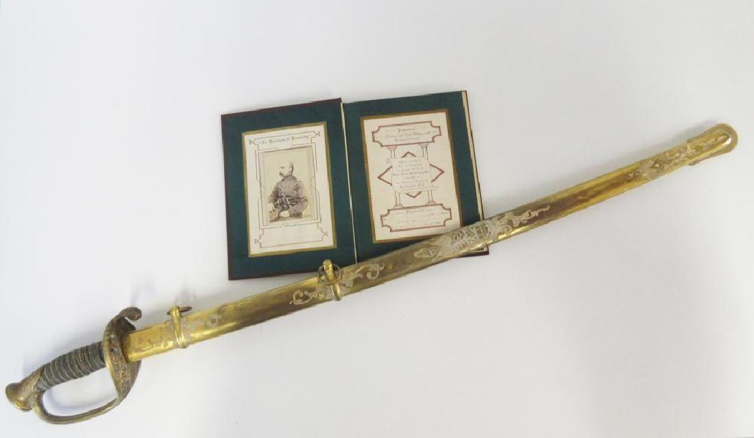Civil War Archive with Gettysburg Sword of