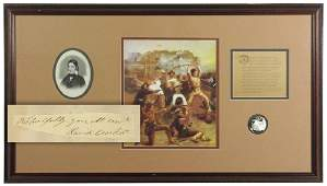 David Crockett Finest Known Signature and Display -
