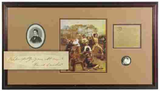 David Crockett Finest Known Signature and Display -