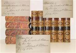 Millard Fillmore Inscribes a Set of 10 Fine Bindings to