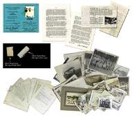 Massive Aviation Archive w/Signed Items from Wright,