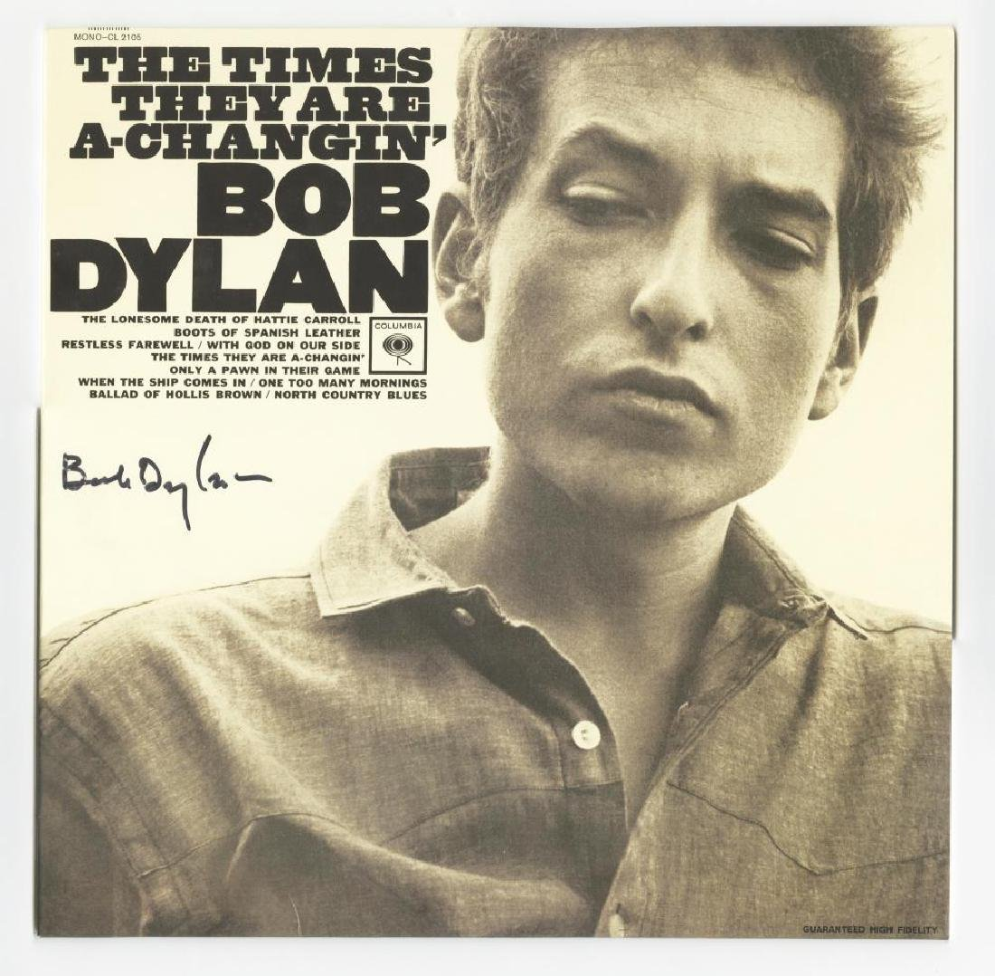 "Bob Dylan Signed LP ""The Times They Are A-Changin""'"