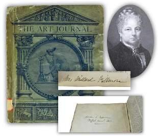 Caroline C Fillmore Rare Twice Signed Relic of