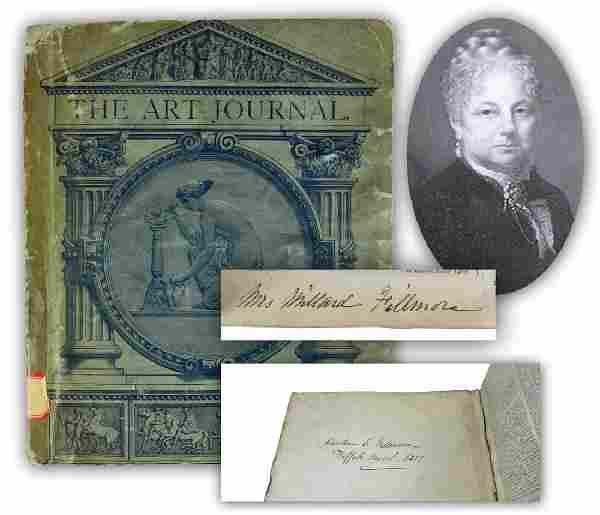 Caroline C. Fillmore, Rare Twice Signed Relic of