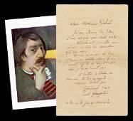 Paul Gauguin ALS Dating from his Days as a Parisian Art