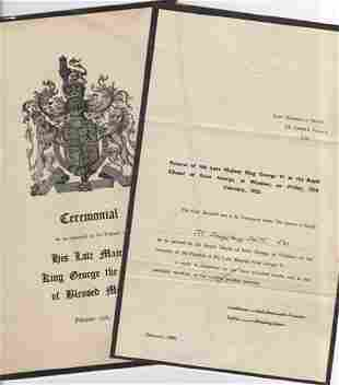 Incredible archive involving King George VI whose