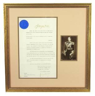 George VI Rare Pardon Prisoner Convicted of Fraudulent