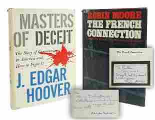 J Edgar Hoover Robin Moore Signed Books