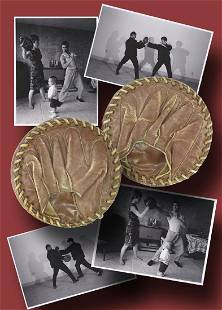 Bruce Lees Focus Mitts Owned and Used by him