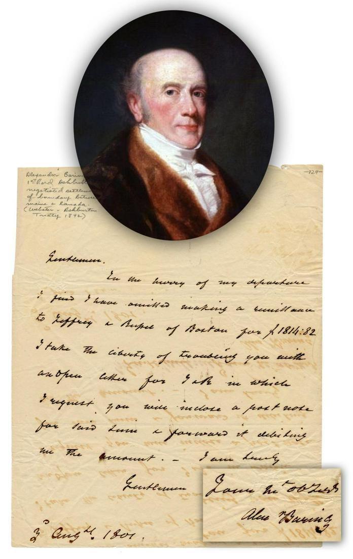 Alexander Baring, Future 1st Baron Ashburton,