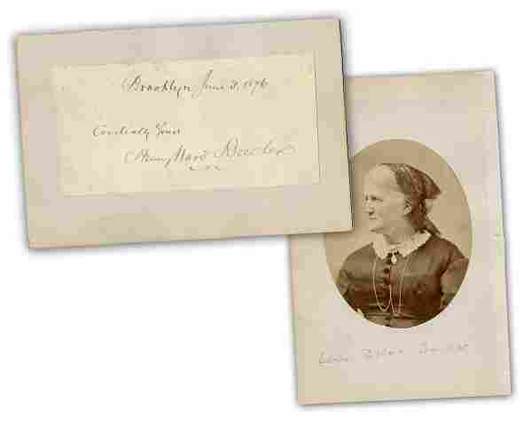 Henry Ward Beecher Signature less than a Year after