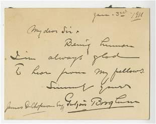 Gutzon Borglum Mt Rushmore creator Autographed