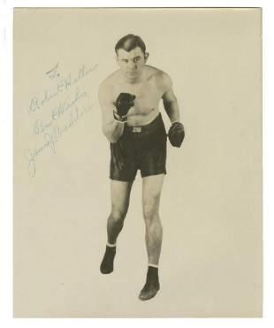 Boxer James Braddock Signed Vintage Glossy Photo