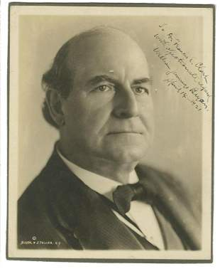 William Jennings Bryan Signed and Inscribed Photo