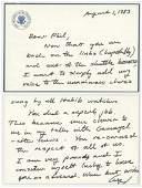 George Bush Writes to Ambassador Habib During His