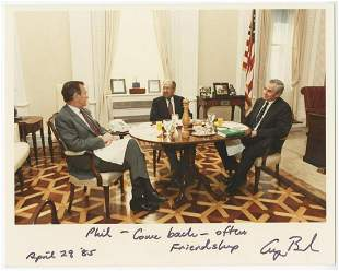 George Bush Signed Middle East Official White House